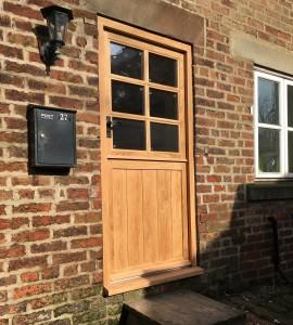 Solid oak stable door